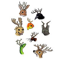 ANTLERS! ANTLERS ON EVERYTHING! Photographic Print
