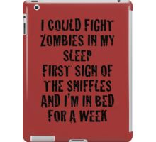 Zombies & Sniffles (Black) iPad Case/Skin