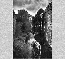 The Water of Leith at Dean Village B&W Unisex T-Shirt