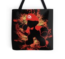 Super Smash Bros Mario Silhouette Tote Bag