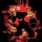 Super Smash Bros Mario Silhouette by jewlecho
