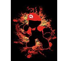Super Smash Bros Mario Silhouette Photographic Print