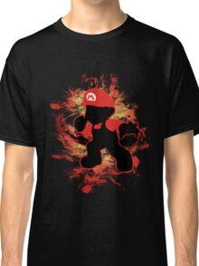 Super Smash Bros Mario Silhouette Classic T-Shirt