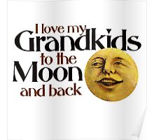 I love my grandkids to the moon and back Poster