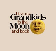 I love my grandkids to the moon and back Womens Fitted T-Shirt