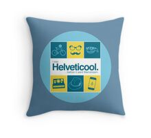 I'm helveticool Throw Pillow