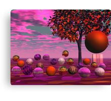 Bittersweet Opinion, Abstract Copper Raspberry Maple Tree Canvas Print