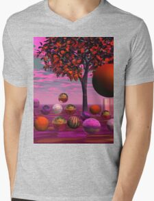 Bittersweet Opinion, Abstract Copper Raspberry Maple Tree Mens V-Neck T-Shirt
