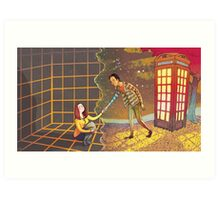 Let's Go - Abed & Annie Art Print
