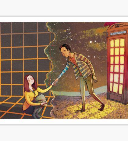 Let's Go - Abed & Annie Sticker