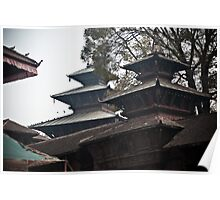 Nepal Temples Poster