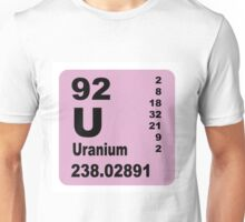Uranium Periodic Table of Elements Unisex T-Shirt