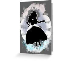 Super Smash Bros. White Peach Silhouette Greeting Card