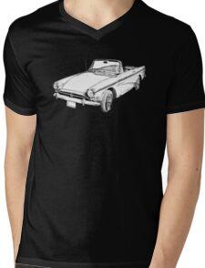 Alpine 5 Sports Car Illustration Mens V-Neck T-Shirt
