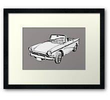 Alpine 5 Sports Car Illustration Framed Print