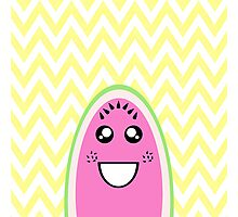 Funny Cute Watermelon Face Photographic Print