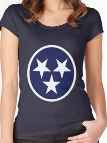Tennessee state flag grunge nashville love geek funny nerd Women's Fitted Scoop T-Shirt