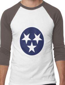 Tennessee state flag grunge nashville love geek funny nerd Men's Baseball ¾ T-Shirt