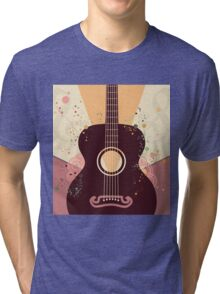 Retro Guitar Poster Tri-blend T-Shirt