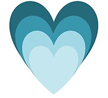 Blue Hearts Photographic Print