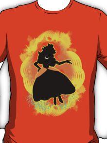 Super Smash Bros. Daisy colored Peach Silhouette T-Shirt