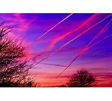 Jet Contrails Over Illinois Photographic Print