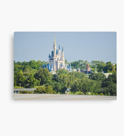A castle in the forest Canvas Print