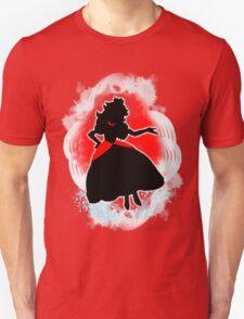 Super Smash Bros. White/Red Fire Peach Silhouette Unisex T-Shirt