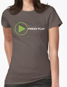 Press Play Womens Fitted T-Shirt