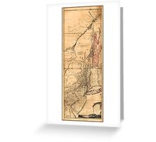 Provinces of New York and New Jersey (1768) Greeting Card