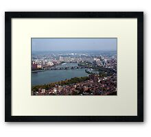 Boston Aerial View Framed Print