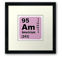 Americium Periodic Table of Elements Framed Print