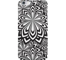 Black and White Abstract Flowers Design iPhone Case/Skin