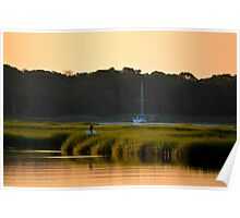 Morning Colors | Flanders Bay, New York Poster