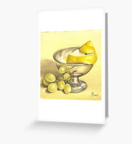 Lemon and grapes study Greeting Card