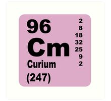 Curium Periodic Table of Elements Art Print
