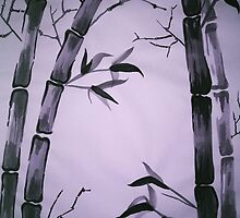 Bamboo Forest at Twilight by Kiwi-Fur