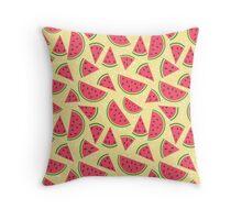 Watermelon slices pattern Throw Pillow