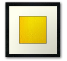 Yellow Leather Framed Print