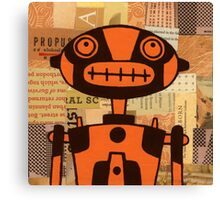 Orange Robot Canvas Print