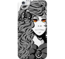 Black and white priestress - prêtresse en noir et blanc iPhone Case/Skin