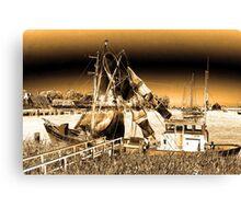 Dutch Fishing Trawler Canvas Print