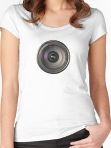 72mm canon camera len Women's Fitted Scoop T-Shirt