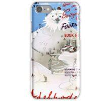 Switzerland Adelboden Vintage Travel Poster iPhone Case/Skin