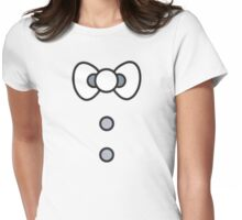 Kitty Bow Womens Fitted T-Shirt