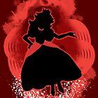 Super Smash Bros. Red Peach Silhouette by jewlecho