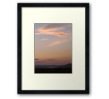 summer sky - Derry Ireland Framed Print