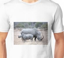 Mother And Baby Rhino Unisex T-Shirt