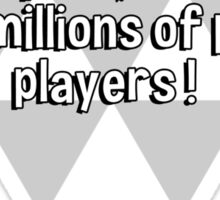 Golf was once a rich man's sport' but now it has millions of poor players ! Sticker