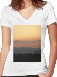 Orange Supreme - Donegal Ireland  Women's Fitted V-Neck T-Shirt